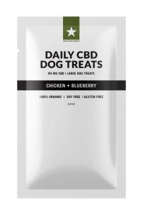 CBD Dog Treats – Blueberry Chicken Flavored for Large Dog (50MG)