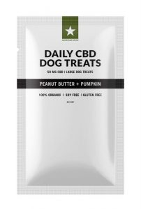 American Green CBD Dog Treats – Blueberry Chicken Flavored for Large Dog (50MG)