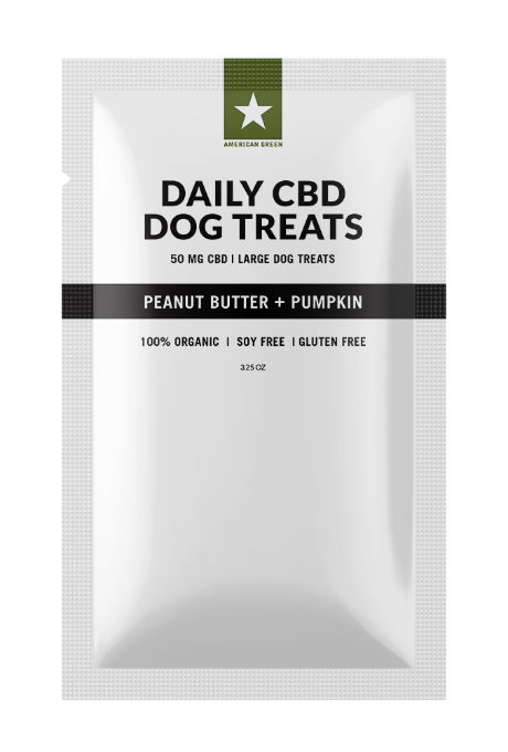 Daily CBD Dog Treats Large Peanut Butter Pumpkin 50 MG CBD