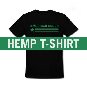 American Green Hemp Tee (Black-Green Logo)
