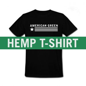 American Green Hemp Tee (Black-White Logo)