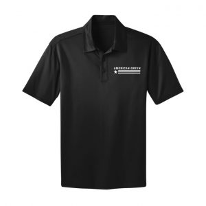 American Green Polo (Black-White Logo)