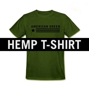 American Green Green Hemp Shirt Black Logo