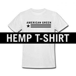 American Green Hemp Tee (White-Black Logo)