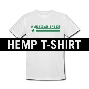 American Green Hemp Tee (White-Green Logo)