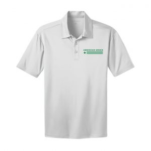 American Green Polo (White-Green Logo)