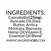 25mg Balm Citrus Ingredients