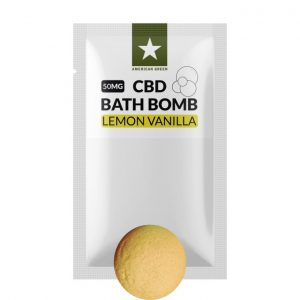 50MG CBD Bath Bomb Lemon Vanilla